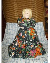Большая кукла на чайник (тряпочная) 70е годы