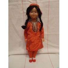 Туркменка в народном  Фабрика сувенирных и подарочных игрушек 70е годы этикетка