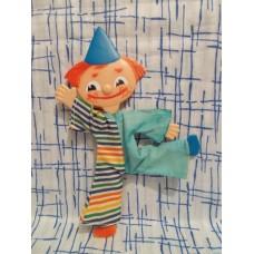 Веселый клоун шарнирный плоский 70е годы