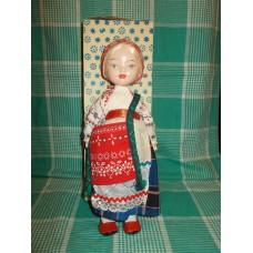 Ленигрушка  70е годы  Кукла в народном в коробке