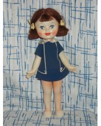 Кукла с хвостиками Ленигрушка   клеймо мишка 60е годы
