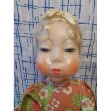 Большая кукла на самовар  Загорск 60е годы с этикеткой