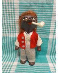 Куклы ГДР Ежик с трубкой 70е годы винил