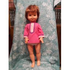 Большая кукла  шатенка 70 - 80е годы ГДР