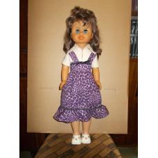 Большая кукла  с длинными волосами 70 - 80е годы ГДР